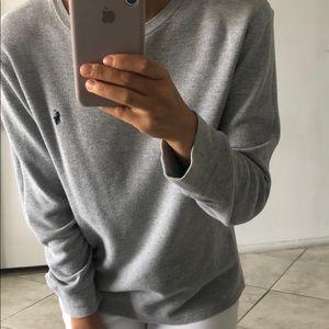 Ralph Lauren Gap Waffle Grey Sweatshirt Fits S-M